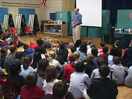 Peter Lourie visiting schools.